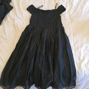 New J Crew Black Off Shoulder Dress - Size L